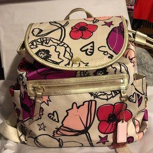COPY - Coach Kyra Backpack Poppy Floral  Book bag…